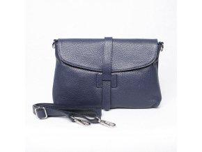 Kožená kabelka na rameno/do ruky/crossbody no. 222 modrá