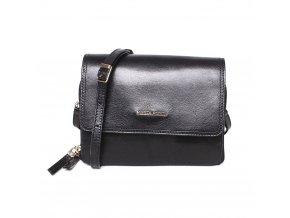 Dvouoddílová luxusní dámská kožená crossbody kabelka Marta Ponti A10 černá