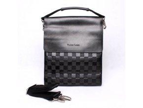 Středně velká pánská crossbody taška Filippo Lucci FL6022-3 černá