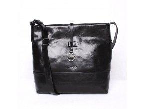 Luxusní dámská kabelka na rameno Marta Ponti no. 108 černá