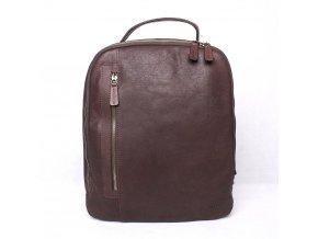 Velký pánský luxusní batoh Marta Ponti, obsah až 15l hnědý
