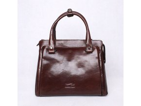 Luxusní dámská kabelka do ruky Marta Ponti no. 6056 tmavěhnědá