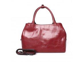 Tříoddílová luxusní dámská kabelka do ruky Marta Ponti no. 6009 červená