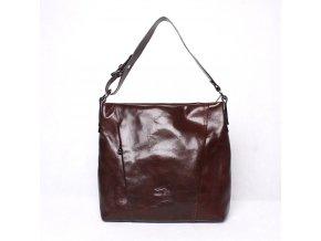 Luxusní dámská kabelka do ruky/na rameno Marta Ponti no. 5879 tmavěhnědá