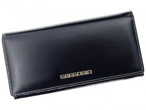 Kožená peněženka Gregorio N106 tmavěmodro-béžová