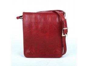 Unisex crossbody taška no. 48 tmavěčervená