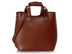 Shopperbag kabelka do ruky LS00267 tmavěhnědá