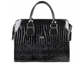 damska luxusni taska na notebook cerny lak kroko st01 156 grosso
