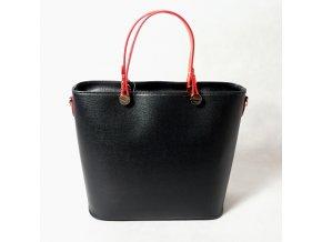 Kožená kabelka KPVK1 černá