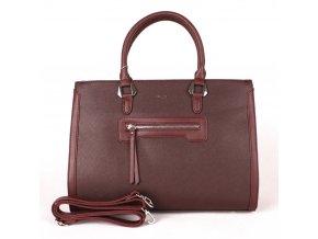Velká elegantní kabelka do ruky David Jones CM3902 tmavěčervená (vínová)