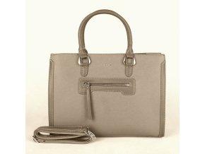 Velká elegantní kabelka do ruky David Jones CM3902 šedohnědozelená