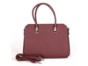 Elegantní kabelka do ruky FLORA&CO F6519 vínová