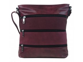 vyr 4555damska crossbody kabelka new berry nh6104 wine red 1