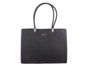 Velká elegantní kabelka na rameno FLORA&CO F6532 černá
