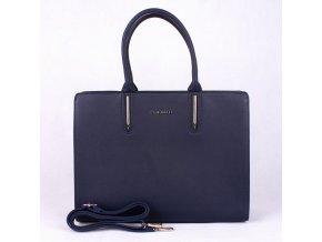 Velká elegantní kabelka do ruky FLORA&CO F9516 tmavěmodrá