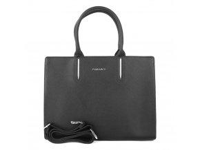 Velká elegantní kabelka do ruky FLORA&CO F9516 černá