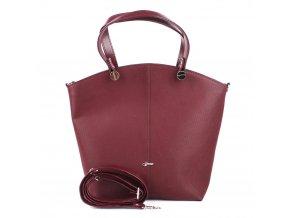 Elegantní shopperbag kabelka do ruky Grosso vínová