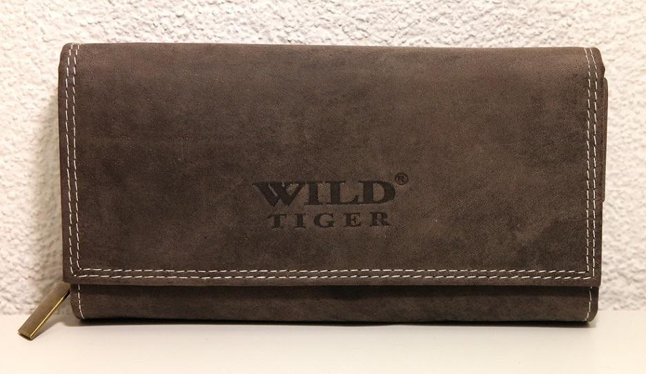 Peněženka Wild Tiger hnědá XL