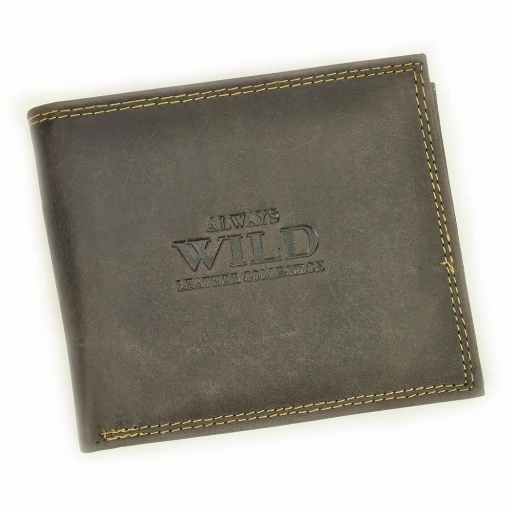 Kožená peněženka Always Wild N992-CHM + RFID tmavěhnědá