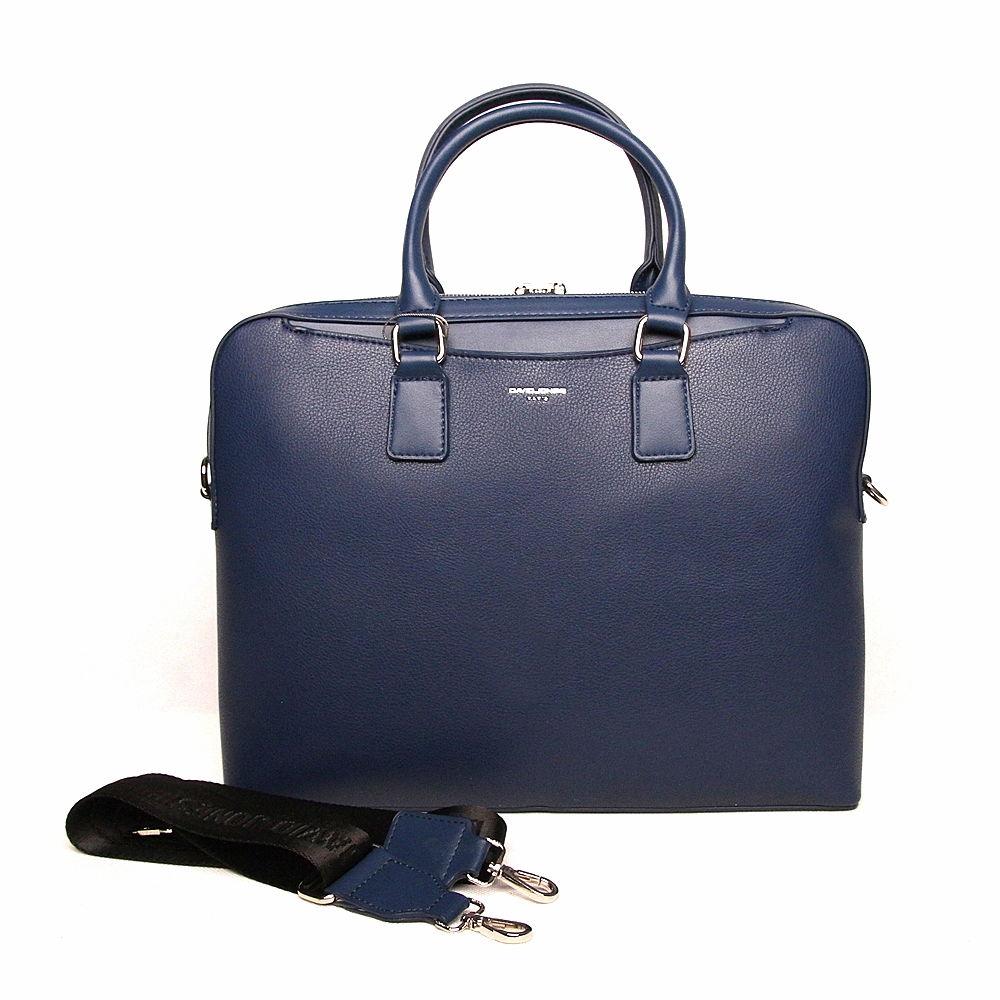Dámská business taška do ruky David Jones 6517-2A na notebook modrá | KabelkyproVas.cz