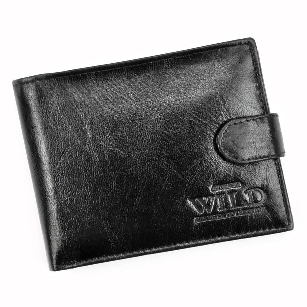 Pánská kožená peněženka Always Wild N992L-VTK s upínkou černá   KabelkyproVas.cz