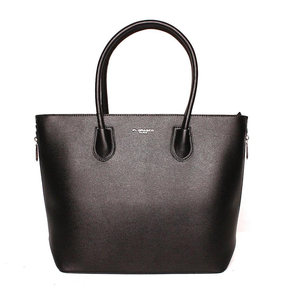 Dámská velká elegantní kabelka do ruky FLORA&CO F9246 černá | KabelkyproVas.cz