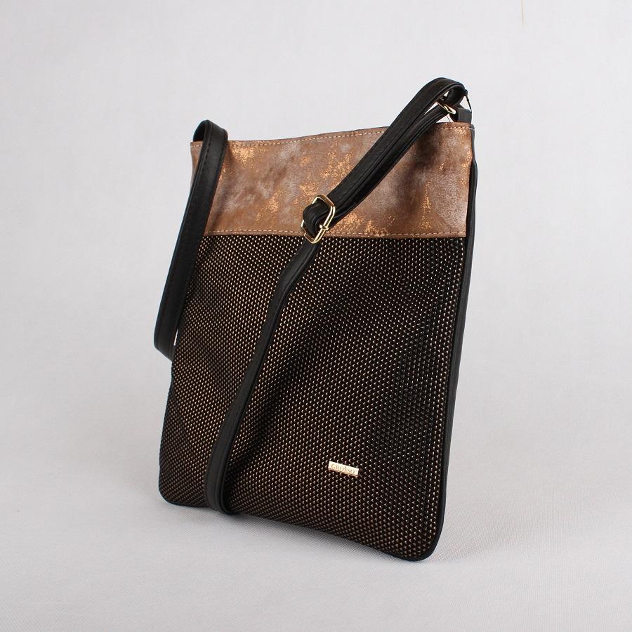 Crossbody kabelka 7019 černo-zlatá