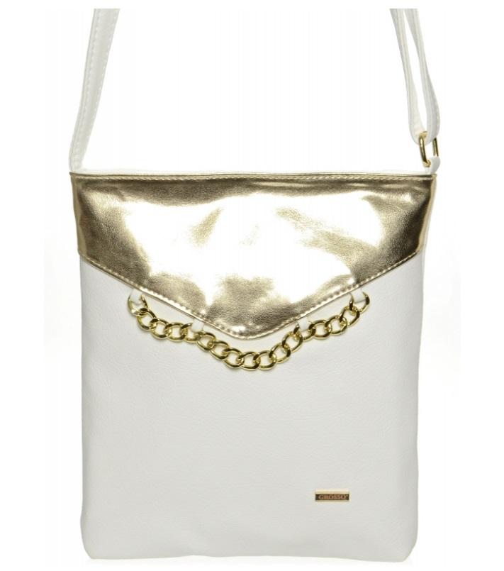 Crossbody kabelka 7045/01 bílo-zlatá