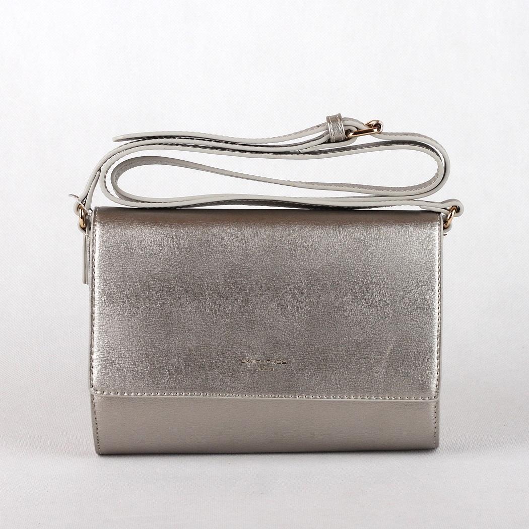 Malá crossbody kabelka David Jones CM3401 stříbrná