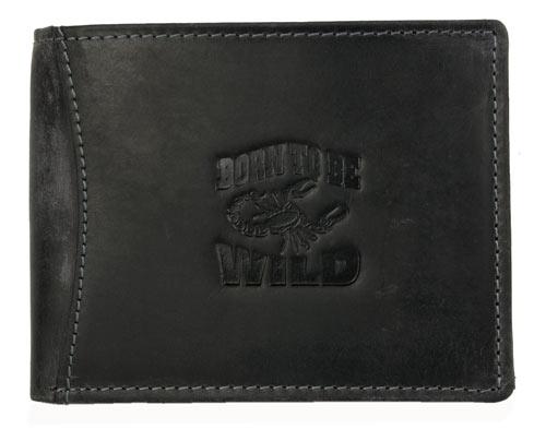 Kožená pánská peněženka Born to be Wild tmavěšedá se štírem