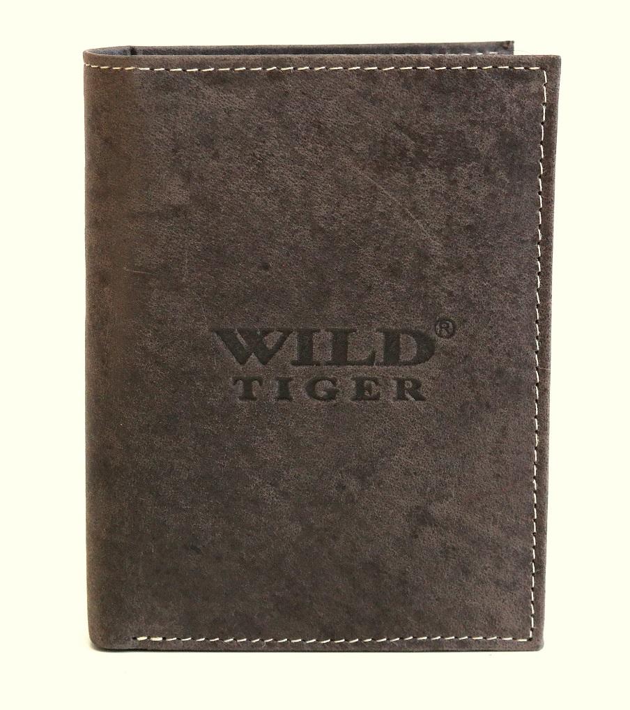 Kožená pánská peněženka Wild Tiger tmavěhnědá