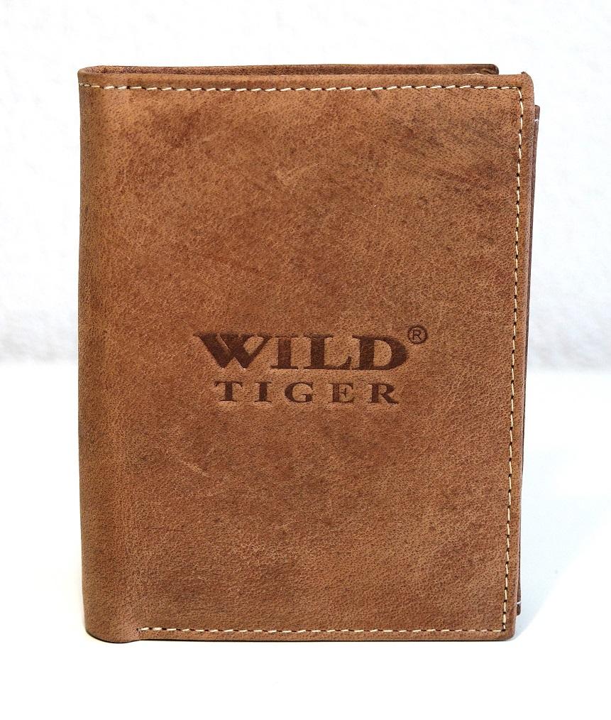 Kožená pánská peněženka Wild Tiger světlehnědá