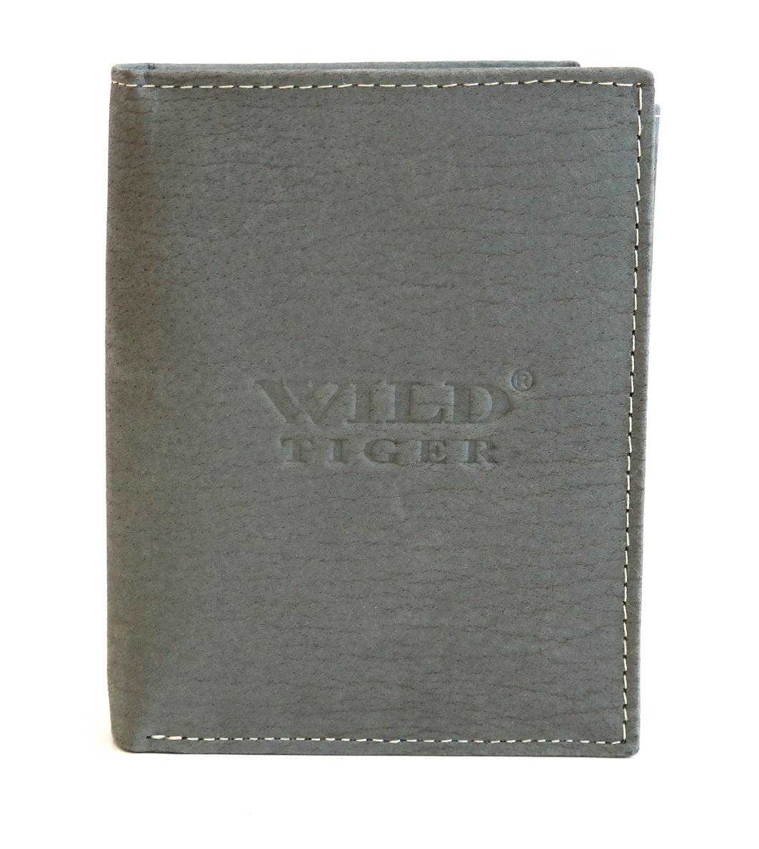 Kožená pánská peněženka Wild Tiger šedá