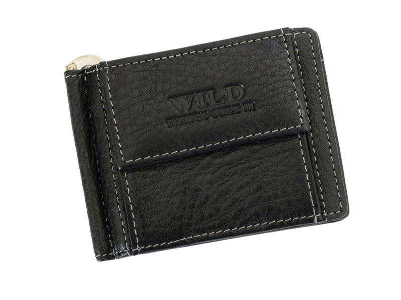 Kožená pánská dolarovka peněženka Wild Things only černá