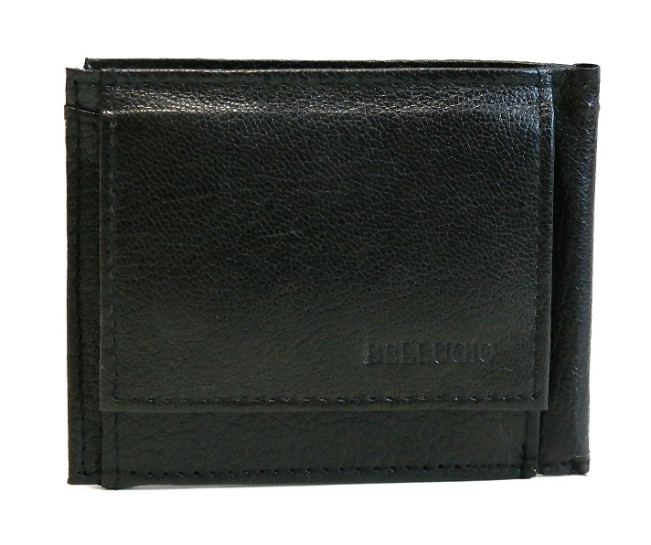 Kožená pánská peněženka Bellugio černá dolarovka