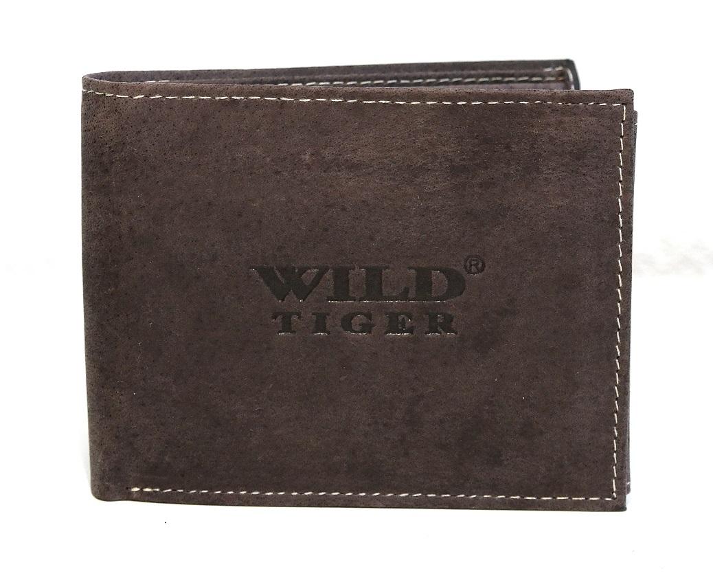 Kožená pánská peněženka Wild Tiger podélná bez zapínání