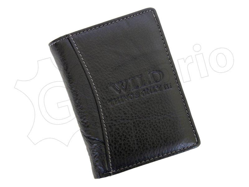 Kožená pánská peněženka Wild černá na výšku