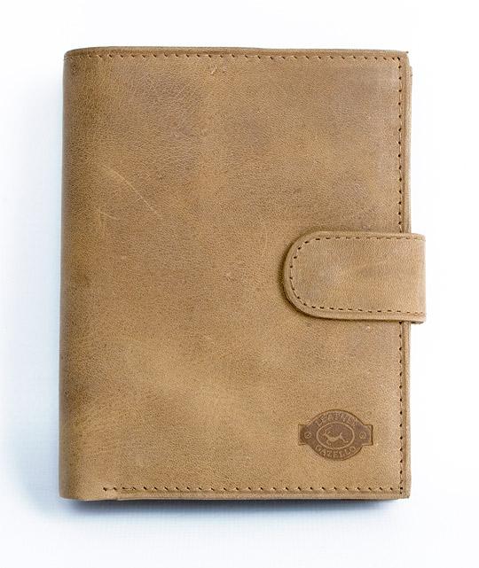 Kožená pánská peněženka Gazello hnědá s upínkou