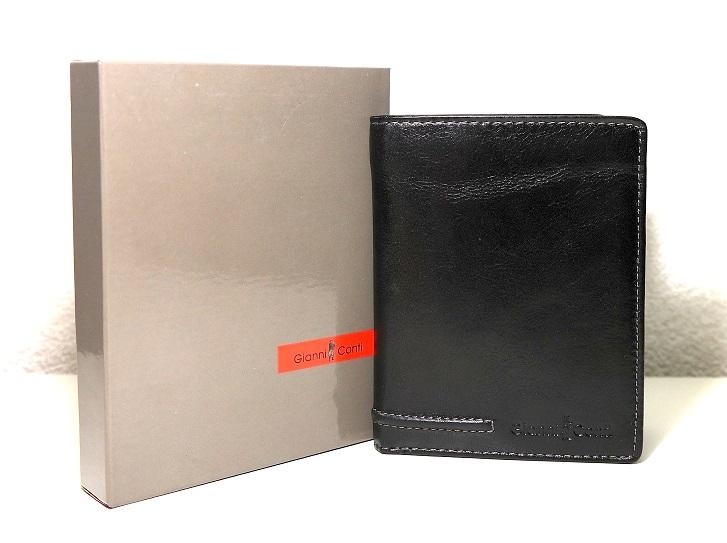 Kožená pánská peněženka Gianni Conti no. 707117 černá