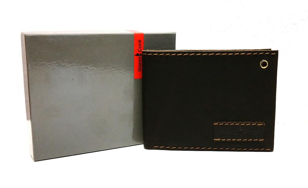 Kožená pánská peněženka Gianni Conti no. 1227100 tmavěhnědá