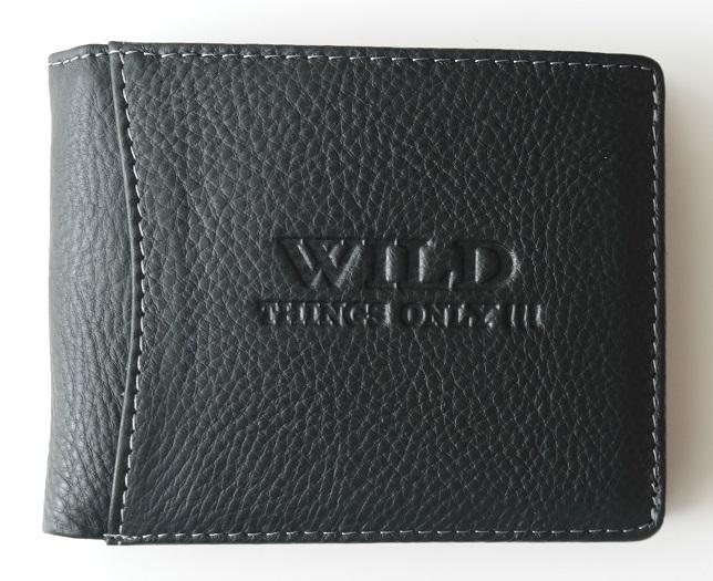 Kožená pánská peněženka Wild černá podélná