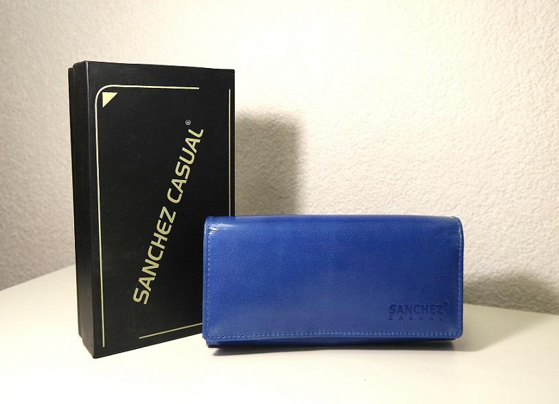 Kožená dámská peněženka SANCHEZ Casual modrá no. 68M
