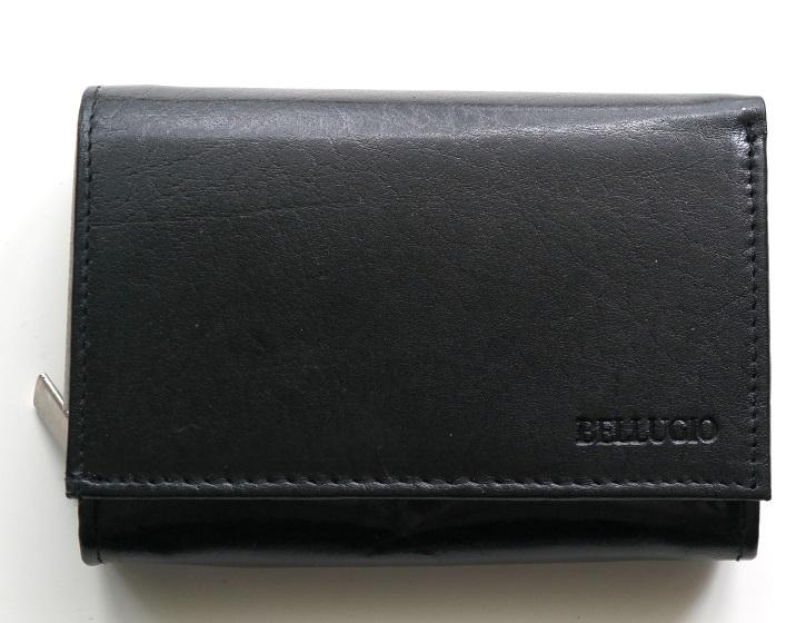 Kožená dámská peněženka BELLUGIO černá