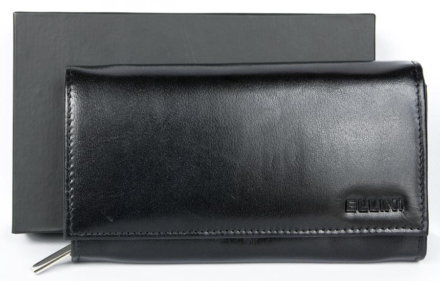 Kožená dámská peněženka ELLINI černá