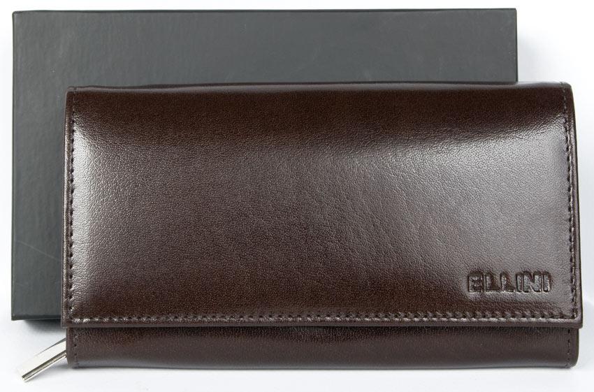 Kožená dámská peněženka ELLINI hnědá