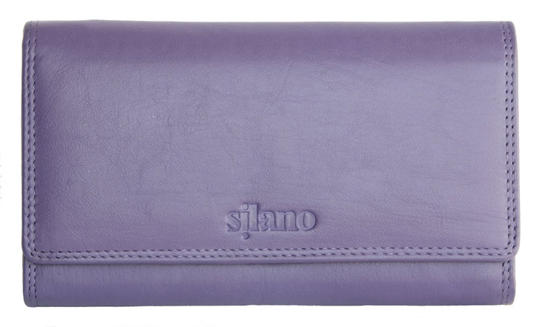 Kožená dámská peněženka Silano fialová