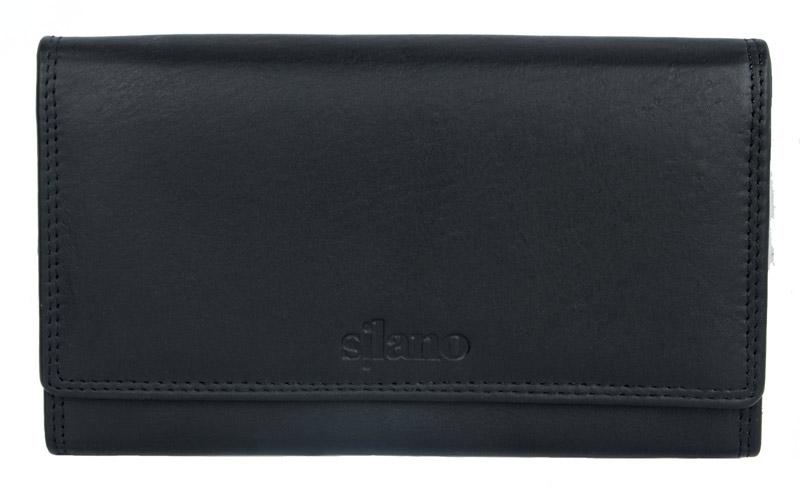 Kožená dámská peněženka Silano černá