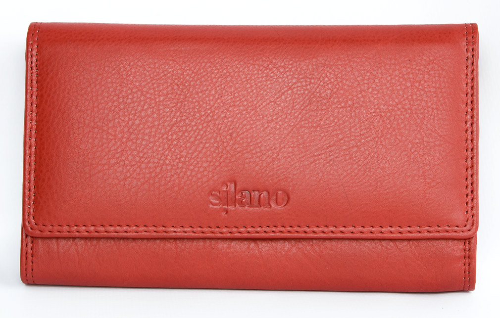 Kožená dámská peněženka Silano červená