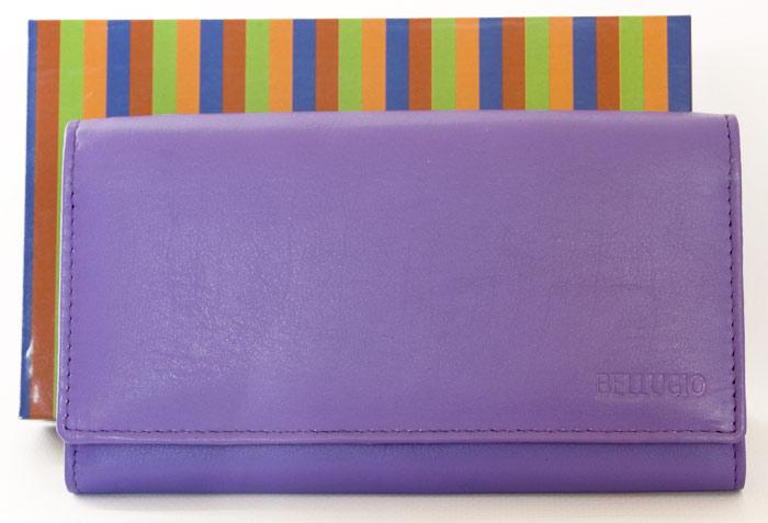 Kožená dámská peněženka BELLUGIO fialová
