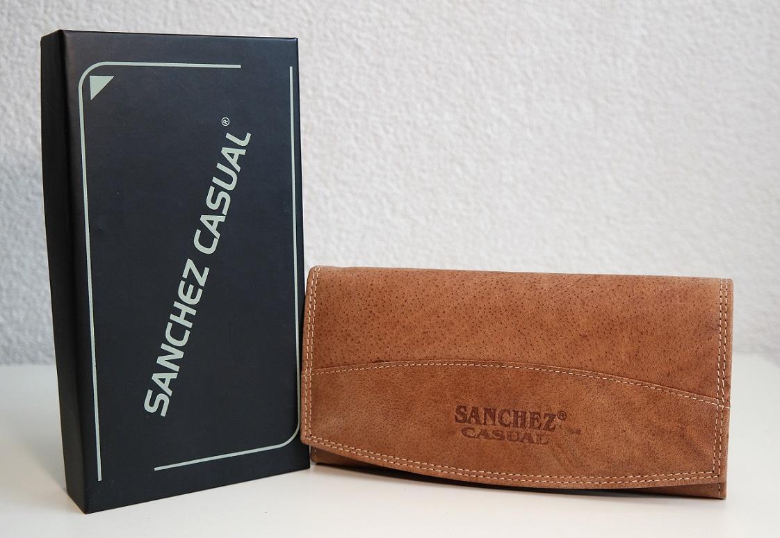 Kožená dámská peněženka SANCHEZ Casual světlěhnědá